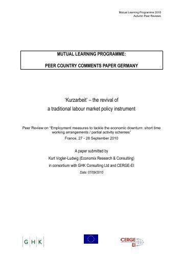 mutual learning programme: peer country comments paper germany