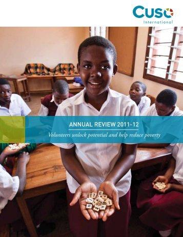 Cuso Intl Annual Review 2011-12 (pdf) - Cuso International