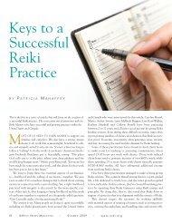 Keys to a Successful Reiki Practice - Reiki Membership Association