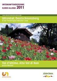 Ultental. Deutschnonsberg Val d'Ultimo. Alta Val di ... - Meraner Land