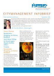 CITYMANAGEMENT INFOBRIEF - NiPP - Brandenburg.de