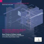 New Forms of Urban Livings - Immobilien Forum Frankfurt