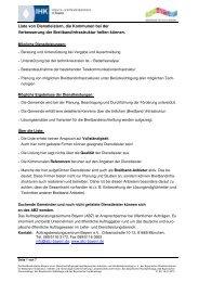 Liste von Dienstleistern, die Kommunen bei der Verbesserung - Sisby