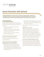 Asset Protection with Schwab