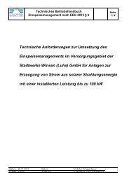 Technische Anforderungen zur Umsetzung des ... - Stadtwerke Winsen