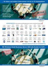 Mit Windows Small Business Server 2003 alle Kosten im Griff... Mit ...