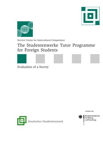 The Studentenwerke Tutor Programme for Foreign Students