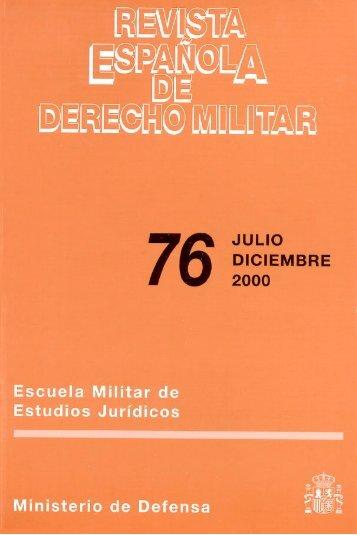 Nº 76 2000 Julio/Diciembre - Portal de Cultura de Defensa ...