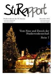 Vom Sinn und Zweck der Studierendenschaft Seite 7 - StuRa TU ...
