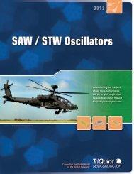 SAW / STW Oscillators - TriQuint