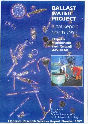 Ballast water project - final report.