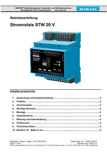 Stromrelais STW 20 V - ziehl.de