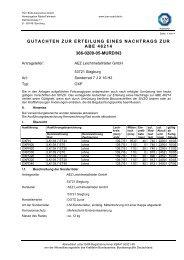 Gutachten zur Erteilung eines Nachtrags zur ABE 46214