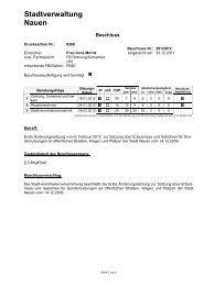 Beratung und Beschlussfassung zur Ersten ... - Stadt Nauen
