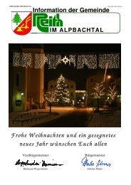 Ausgabe 4/2008 - Reith im Alpbachtal - Land Tirol