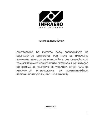 termo de referência contratação de empresa para ... - Infraero