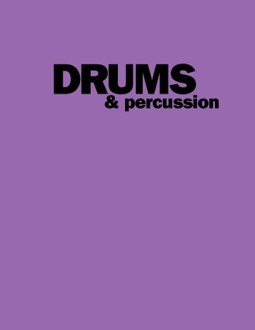 Drums & Percussion - Alfred Music Publishing