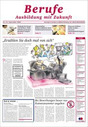 Berufe Ausbildung mit Zukunft - Rhein-Main.Net