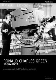 RONALD CHARLES GREEN - The Guild of Television Cameramen
