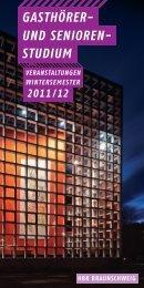 Gasthörer- und Seniorenstudium WS 2011/2012 - Hochschule für ...