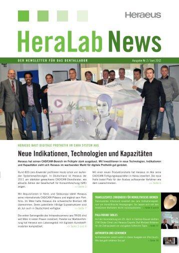 HeraLab News 02/2012 - Heraeus Dental