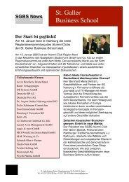 Bericht (inkl. Photos) - St. Galler Business School