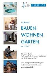 Bauen und Wohnen 04/2010 - RatGeberZentrale