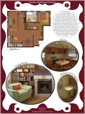 Studio Apartment Design - Ringling College of Art and Design