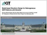 Model-based Waveform Design for Heterogeneous SDR Platforms ...