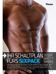 iHr ScHALTpLAN fUrS Sixpack - Sven Friedrich