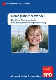 Demografischer Wandel - SPD-Landtagsfraktion Brandenburg ...