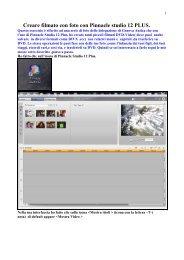 Creare filmato con foto con Pinnacle studio 12 PLUS. - la terza eta