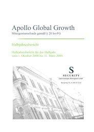 Apollo Global Growth - Security KAG
