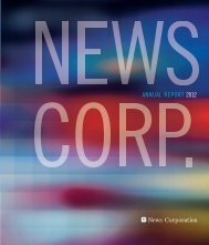 AnnuAl RepoRt 2012 - News Corporation