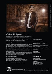 flyer calvin hollywood zum download - foto walter kreil
