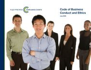 Code of Business Conduct and Ethics - Flextronics