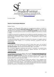 circolare 1/2009 rivalutazioni immobiliari - studio format sas