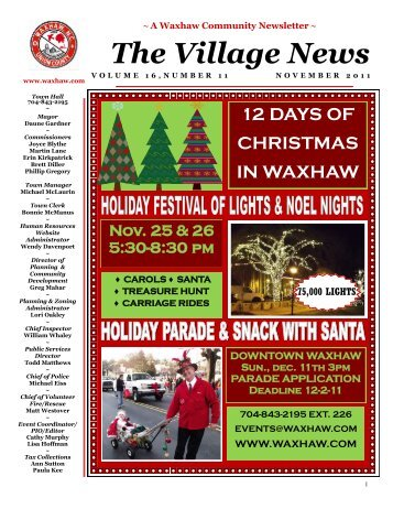 The Village News - Town of Waxhaw