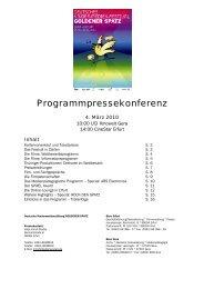 Pressemappe Kinder-Medien-Festival: Kino-TV ... - Goldener Spatz