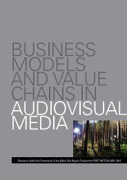 Business Models and Value Chains in Audiovisual ... - First Motion