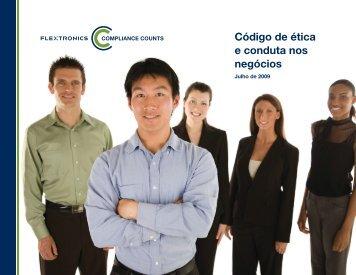 Código de ética e conduta nos negócios - Flextronics