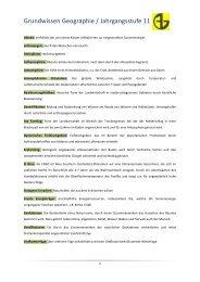 Grundwissen Geographie / Jahrgangsstufe 11