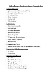 Erkrankungen des rheumatischen Formenkreises - Frintroper Praxis ...