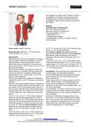 selbermachen : stricken : folklore weste - Coats GmbH