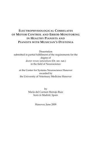 Dissertation submitted in partial fulfillment of the requirements