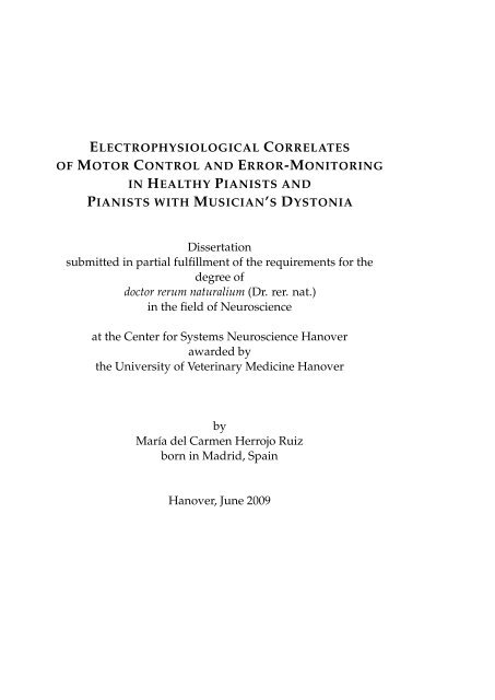 Dissertation Submitted In Partial Fulfillment Of The Requirements For The  ...