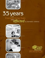 affected - Family Shelter Service