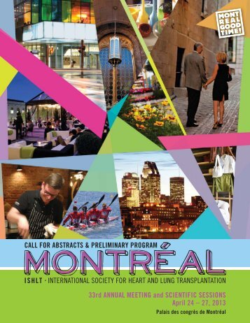 2013 Preliminary Program / Call for Abstracts - The International ...