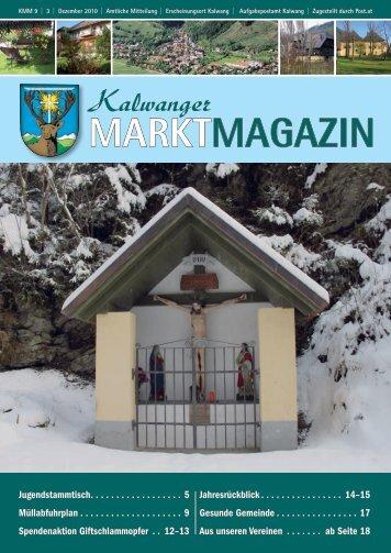Dezember 2010 - Kalwang