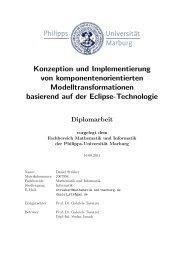 Konzeption und Implementierung von komponentenorientierten ...